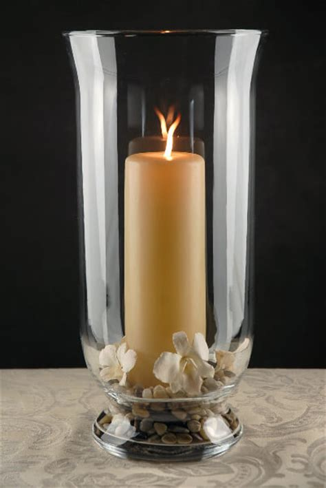 Glass Candle Vases by Clear Glass Hurricane Vase 16in