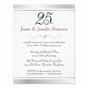 25th wedding anniversary party invitations zazzle With 25th wedding anniversary invitations with pictures