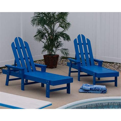 island adirondack chaise lounge maintenance free