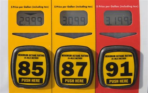 Use The Specified Gasoline Octane Levels
