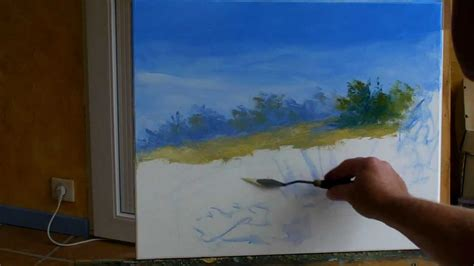 sous les jupes au bureau sous les arbres 1 3 pascal clus peinture au couteau painting knife tutorial
