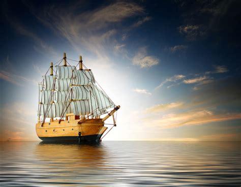 Sailboat At Sea by The Sailboat Is Driving At Sea Stock Photo Free
