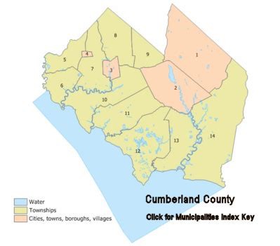 Cumberland County New Jersey Map