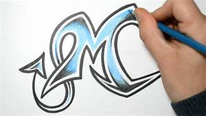 How to Draw Wild Graffiti Letters - M - YouTube