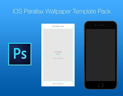 ios parallax wallpaper template pack  behance