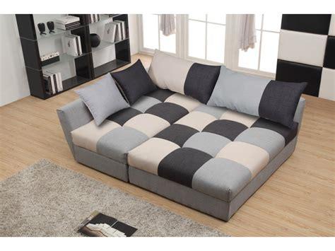 liquidation canapé canapé d 39 angle convertible en tissu romane patchwork