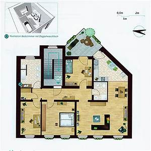 Drei Raum Wohnung : 123 quadratmeter wohnfl che aufgeteilt in drei schlafzimmer gro z giges wohn und esszimmer ~ Orissabook.com Haus und Dekorationen