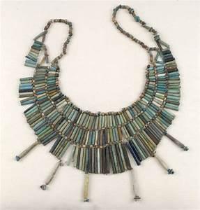 Ancient Egyptians beautiful jewellery .Blue beaded ...