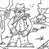 Western Cowboy Coloring Pages Colouring Printable Cowboys West Wild Printables Theme Dallas Rodeo Sheets Kleurplaten Vest Christian Landscape Helmet Scene sketch template