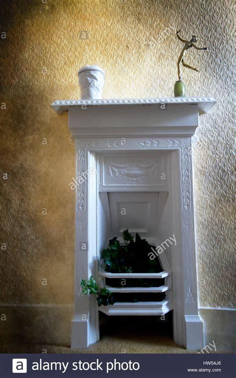 painting cast iron fireplace white white painted cast iron fireplace stock photo
