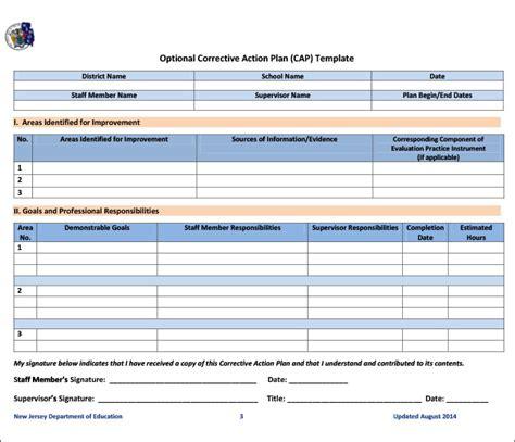 corrective plan template corrective plan template 23 free word excel pdf format free premium templates