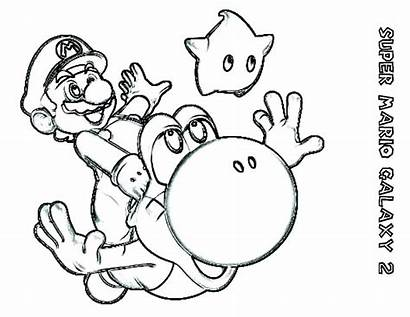 Mario Coloring Pages Super Maker Kart Yoshi