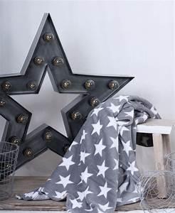 Decke Mit Sternen : fleece decke grau mit wei en sternen ebay ~ Markanthonyermac.com Haus und Dekorationen