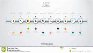 Vector Infographics Timeline Design Template With 10 Option And Integrated Circles Background
