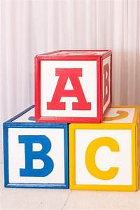 Wooden ABC Blocks, Giant Rental LA & OC