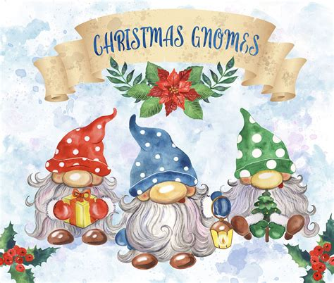 Christmas gnomes is a bundle of 16 adorable christmas gnome svg, clipart and printable files that are perfect for all sorts of christmas creations. Christmas gnomes clipart. Watercolor Scandinavian gnomes ...