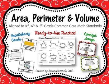 Area, Perimeter & Volume By Forkin4th  Teachers Pay Teachers