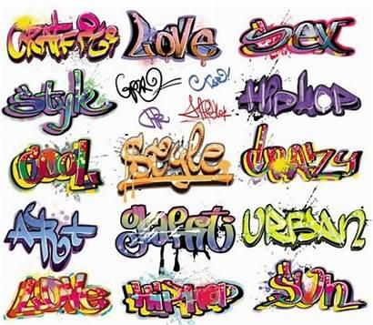 Graffiti Words Crazy Colorful Graphic Vector Clipart