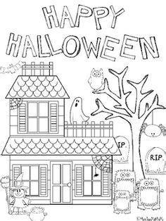 grade halloween coloring pages festival collections