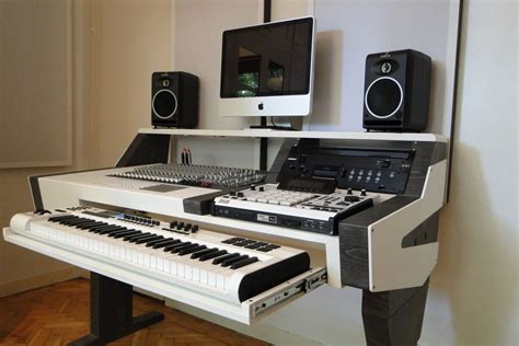 recording studio computer desk diy fully custom built studio desk b w gearslutz com