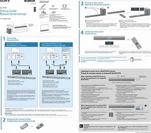 Sony Ht Ct380 User Manual Startup Guide Htct380 Ct780 Qs En Fr