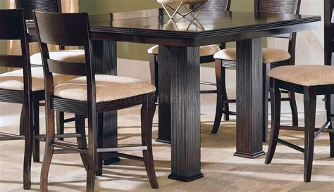 modern counter height table rich mocha finish counter height modern dinette table w