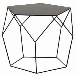 Table Basse Noire Design : table basse design en m tal noir ~ Carolinahurricanesstore.com Idées de Décoration