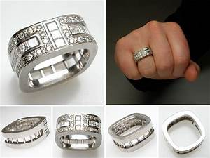 The blend of ancient and modern in versace wedding rings for Wedding rings for men