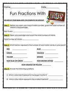 FREE Fun Fractions with M&Ms - Materials Needed: 1 snack ...