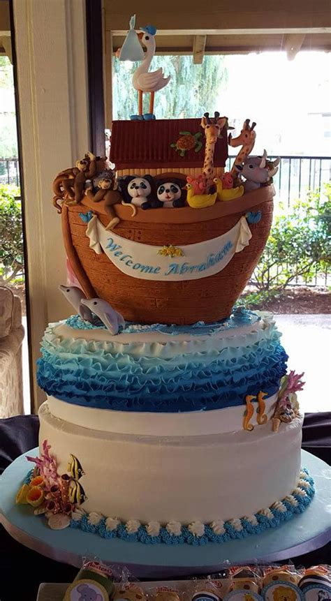noahs ark baby shower noah 39 s ark baby shower cake cakecentral