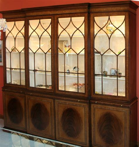 Baker Breakfront China Cabinet by 120065 Baker Breakfront China Cabinet H 90 Quot W 93 1 2