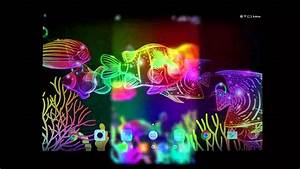 Neon fish live wallpaper for Android phones and tablets ...
