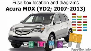 Fuse Box Location And Diagrams  Acura Mdx  Yd2  2007