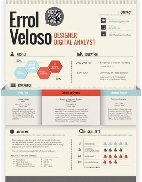 25 great high quality and modern exles of creative cv