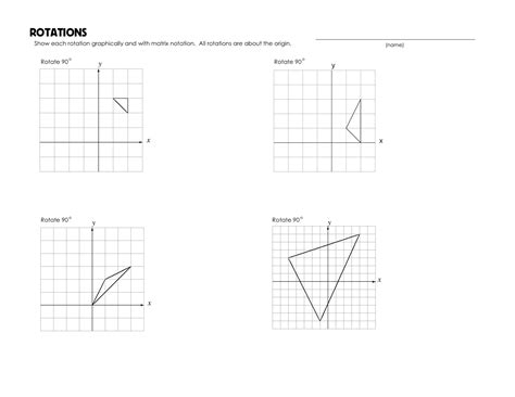 worksheets rotations worksheet cheatslist free