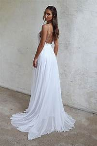sale absorbing spaghetti strap wedding dresses white With spaghetti strap beach wedding dress