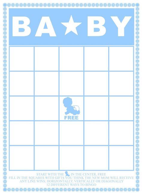 bingo template pdf baby bingo template madinbelgrade