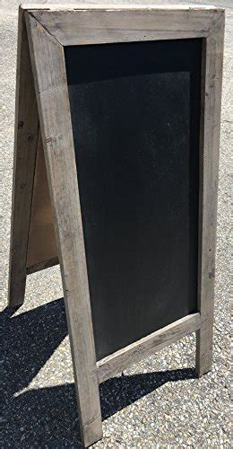 Vintage Style Free Standing Wood Frame Easel Chalkboard
