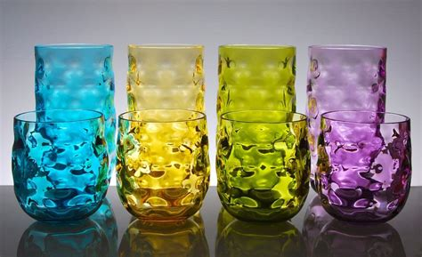 Qg Clear Colorful Acrylic Plastic 14 & 23oz. Cup Drinking