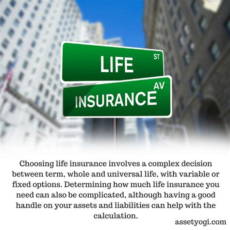 I checked her life insurance account last night. Choosing life insurance involves a complex decision between term, whole and universal life, with ...