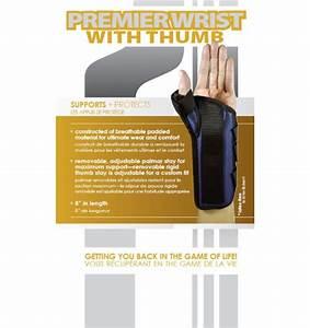Mko Premier Wrist Brace With Thumb Orthomed Canada