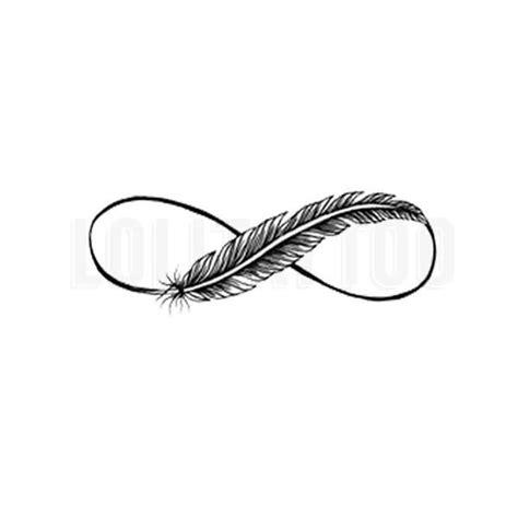 infinity feather tattoos ideas  pinterest