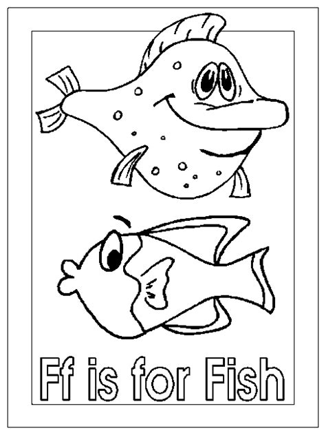 coloring activity pages ff   fish coloring page
