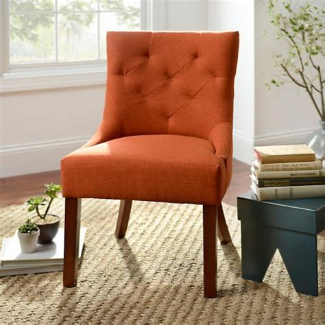 product details spice button tufted accent chair