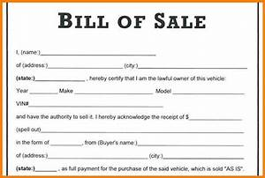 printable automobile bill of sale template in word format With bill of sale template for a car