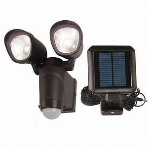 Utilitech degree head black solar powered led