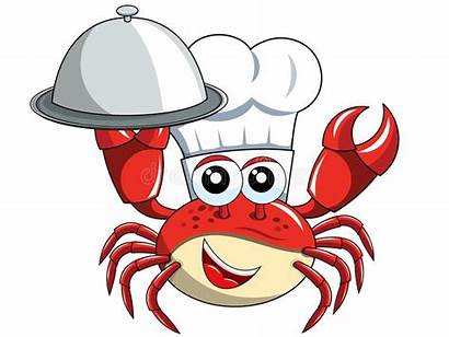 Crab Chef Mascot Serving Tray Isolated Animal