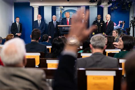 trump covid march coronavirus press president briefing donald update sunday during reporter conference comments official otb james