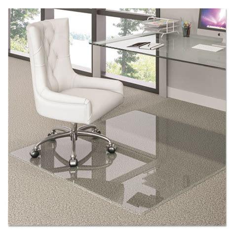 premium glass chair mat 44 x 50 clear lighthouse