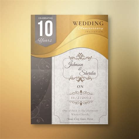 years celebrating wedding anniversary card template
